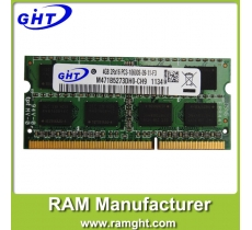 China ram memory laptop ddr3 4gb with ETT chips