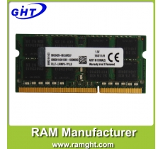 laptop ram 8gb ddr3 512mb*8 pc3-12800 1600mhz with ETT chips